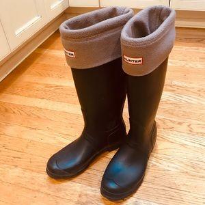 Hunter Boots w/ Hunter Socks